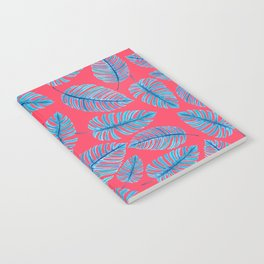 Monstera leaves, tropical watercolor pattern Notebook