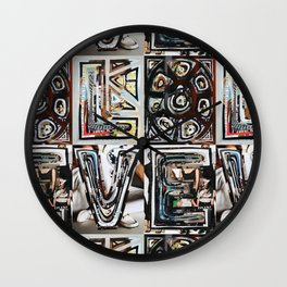 LOVE - Magazine Collage Wall Clock