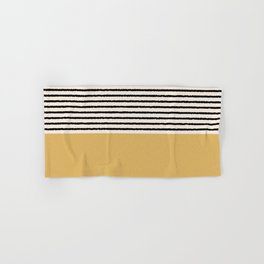 Texture - Black Stripes Gold Hand & Bath Towel