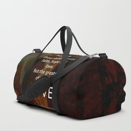 1 Corinthians 13:13 Bible Verses Quote About LOVE Duffle Bag
