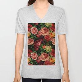 Vintage & Shabby chic - floral roses flowers rose Unisex V-Neck