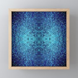 Deep blue glass mosaic Framed Mini Art Print