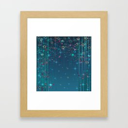 Magic fairy abstract shiny background with stars Framed Art Print
