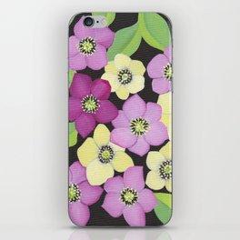 Helleborus floral pattern iPhone Skin