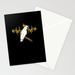 Cockatoo Heartbeat For A Parrot Lover product Stationery Cards