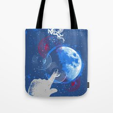 Winged Goat of the Cosmos Tote Bag