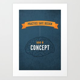 Practice Safe Design Art Print