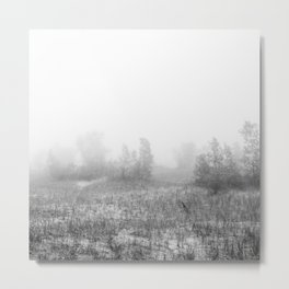 Misty Day at Lake Michigan Metal Print