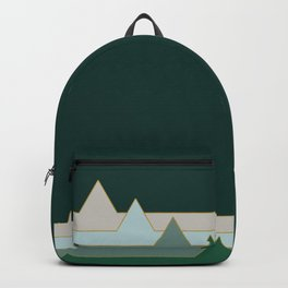 Green Mountains #society6 #decor #buyart Backpack