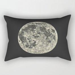 Telescopic View of the Moon | Vintage Astronomy Illustration Rectangular Pillow