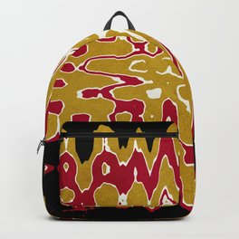 Black Gold Abstract Backpack
