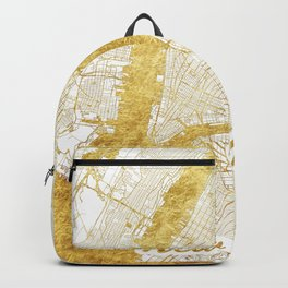New York Map Gold Backpack
