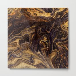 Chocolate and Gold Metal Print