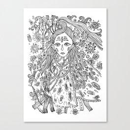 Young Shiva Canvas Print