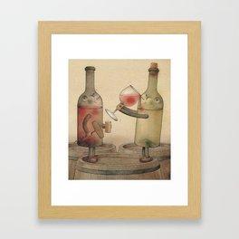 Pinot Noir and Chardonnay Framed Art Print