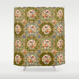 Persian Tile Butterfly Variation Shower Curtain