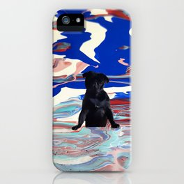 Melt pug iPhone Case