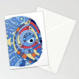 Fish art 21.4 Stationery Cards