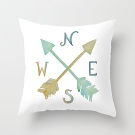 Colorful compass Throw Pillow