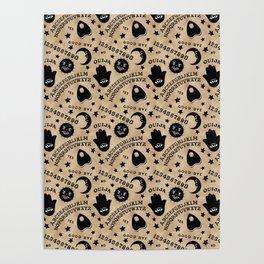 Ouija Board Pattern Poster