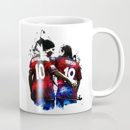 Illustration Ronaldinho And Messi Coffee Mug