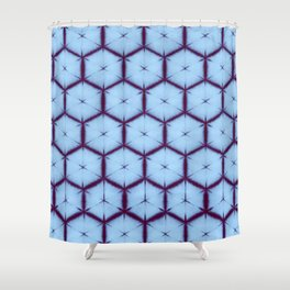 large honey comb tonal Shower Curtain