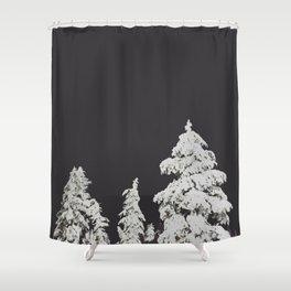 A Pacific Northwest Winter Night Shower Curtain