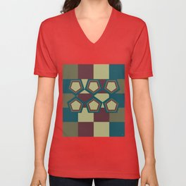 Abstract Game #1 Unisex V-Neck