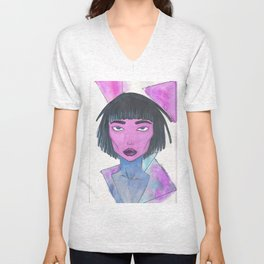 Dimensional Girl Unisex V-Neck