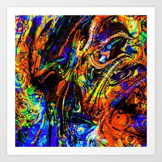 abstract waves ii Art Print