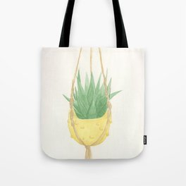 Macrame Succulent Tote Bag
