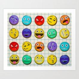 Mixed emojions Art Print