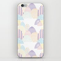 memphis iPhone & iPod Skins featuring Memphis pastel by Flor Tate