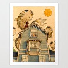 Fish Migration Art Print