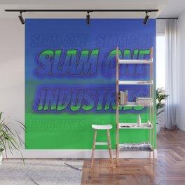 Slam 1 Industries Green n Blue Wall Mural