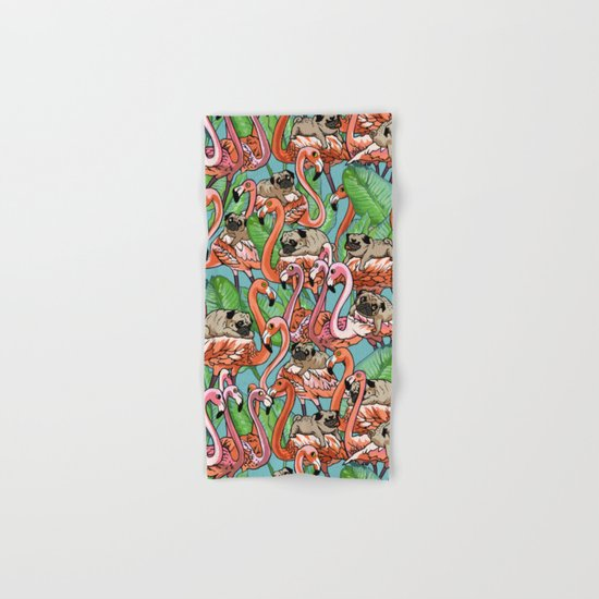 Flamingo Party Hand & Bath Towel