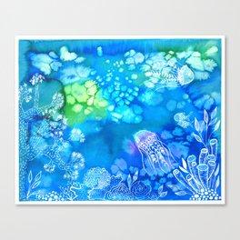 Watercolor sealife Canvas Print