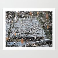 Dripping Branches Art Print