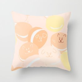Pup-A-Roon Throw Pillow