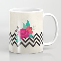 bonjour Mugs featuring bonjour by Marilia Cichini