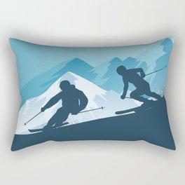 Let's Ski • Winter Sport • Christmas Special Rectangular Pillow