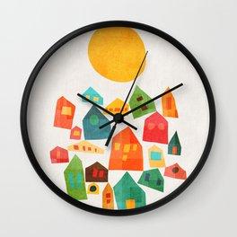 Looking at the same sun Wall Clock