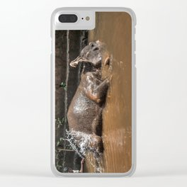 Happy elephant makes me happy Clear iPhone Case
