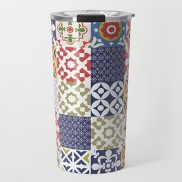 Portuguese pattern color Travel Mug