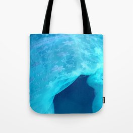 ghost in the swimming pool Tote Bag