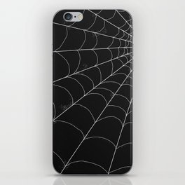 Spiderweb on Black iPhone Skin