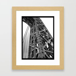 driving under the washington bridge Framed Art Print
