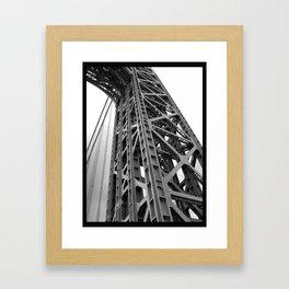 driving under the washington bridge Framed Art Print
