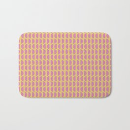 Geometric Block Print Pattern Bath Mat