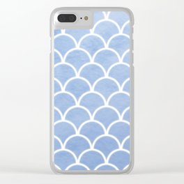 Beautiful textured large scallops in serenity blue Clear iPhone Case